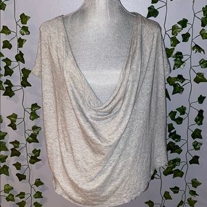 Woman's Free People Gray Scoop Blouse S